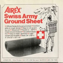 1979 Airex Swiss Army Ground Sheet Print Ad Division of Lonza Inc Fair L... - $8.75