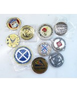 Lot of 10 Military Challenge Coin Misc. Units & Branches C2210 - $53.12