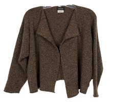 Eskandar O/S Brown Merino Wool Cashmere Cozy Nubby Knit Open Sweater - $250.00