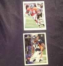 Shannon Sharpe WR # 84 and Ed McCaffrey  WR# 87 Football Trading Cards AA-19FTC3 image 4