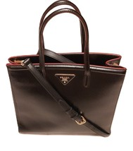 Authentic Prada black Saffiano Vernice Tote bag/Medium - $875.00