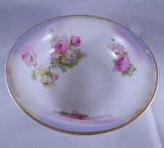 Vintage K&L Germany Porcelain Transfer Vegetable Serving Bowl Roses Dish... - $18.66