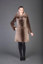 Luxury gift/ Brown Beaver Fur Coat Hooded /Wedding,or anniversary present/MEXA - $1,250.00