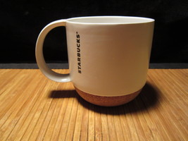 2013 White Starbucks Mug Cork Bottom Coffee Cup Ceramic Tea Cup No Lid 1... - $15.99