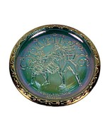 Indiana Blue Carnival Glass Plate Spirit of 76 Vintage Independence Day ... - $9.95