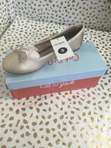 Girls Gold Ballet Flats Youth Size 5 Cat and Jack STACY Padded Insole & Bow  image 5