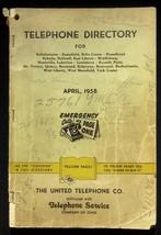 April 1958 Bellefontaine Ohio Telephone Directory United Telephone Co. - $18.95