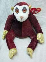 """Ty Zodiac Maroon And Gold Monkey 5"""" Plush Stuffed Animal New - $14.85"""