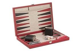 "CHH 15"" Black/Red Backgammon Set - $53.76"