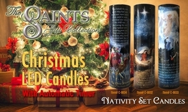 ANGELS & SHEPHERDS - LED Flameless Devotion Prayer Candle image 3