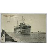 Old VTG Lithograph Postcard S.S. Steamer United States Saugatuck, Lake M... - $34.25