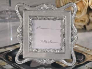 Classically Styled Silver Place Card Frame Favor, 18