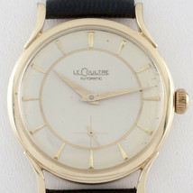 LeCoultre Vintage 14k Yellow Gold Automatic Watch w/ Leather Band Ref #P812 - $1,979.96