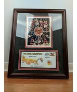 1995 Houston Rockets Rudy T Signed Framed Roster and Stamped Envelope - $197.99
