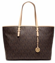 Womens Michael Kors Brown Jet Set Travel Should... - $158.39