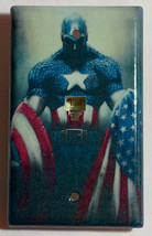 Captain America US Flag Light Switch Outlet Wall Cover Plate Home decor image 4