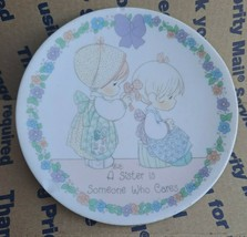 Precious Moments Plate 1992 Sister Who Cares - $3.99