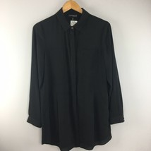 Conrad C Shirt 8 Concepts Button Down Tunic Top Black NWT FF56 - $10.45