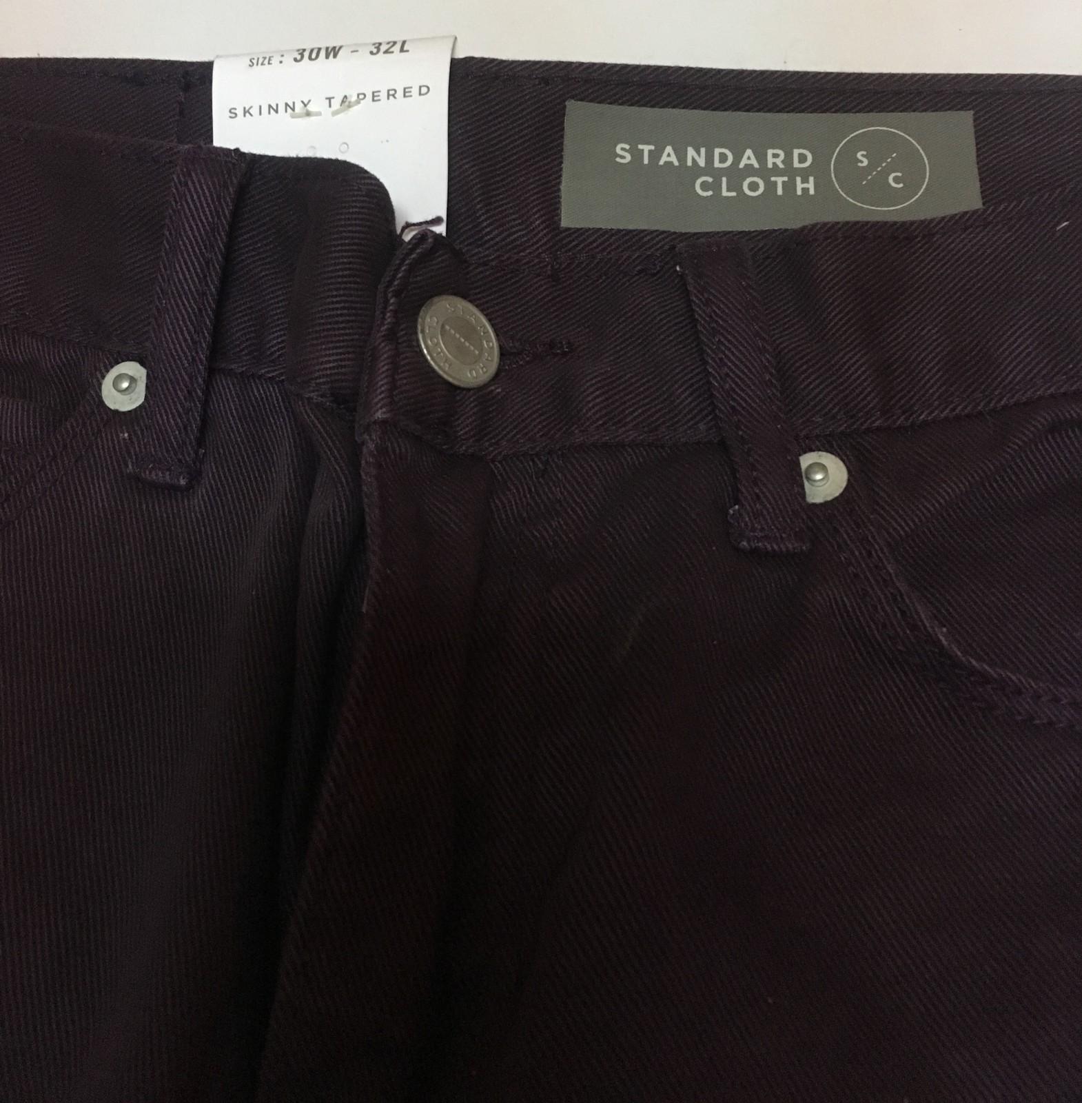Standard Cloth Men's Jeans Sz 30 x 32 Dark Purple Skinny Tapered