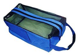 Square Bath Accessories Tote Sport Swimming Mesh Shower Bag-Deep Blue - $18.64
