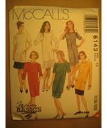 UNCUT Sewing Pattern 1992 McCall's SIZE 12 14 16  SKIRT Dress TUNIC 6143... - $4.51