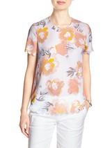 Banana Republic Factory Print Scallop-Trim Top 100% Polyester Multi Size PM, NWT - $44.67