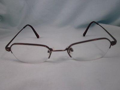 07daf909535 FLEXON by MARCHON Rx Eyeglasses Metal Frames 443 Half Rim Brown Light  Espresso