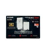 D-Link POWERLINE AV2 2000 Gigabit Network Starter Kit W/ Mimo Technology - $63.79