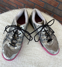 Asics Gel Rocket Shoe Size 9 Volleyball Sneakers Silver Pink Athletic Tr... - $9.50