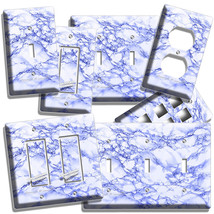 Blue Marble Look Light Switch Outlet Wall Plates Room Art Kitchen Bathroom Decor - $9.99+