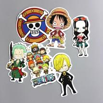 6PCS/lot One Piece Naruto Luffy Uzumaki Stickers Toys For Kids Home Deco... - $7.10