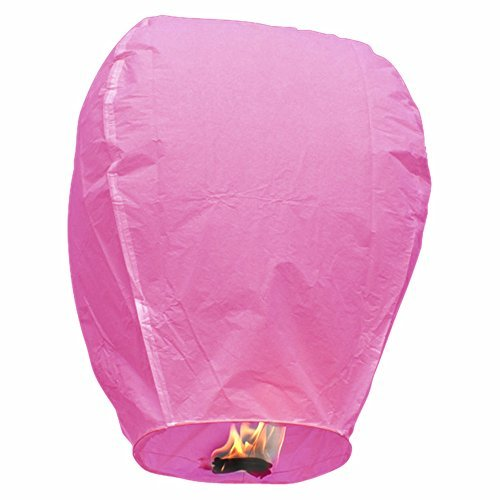 Sky Lantern - Chinese Paper Flying Wish Candle (Baby Pink/Pack of 5)