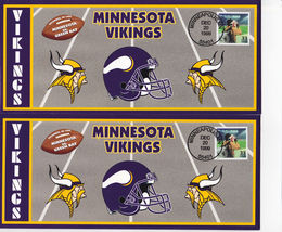 TWO 1999 Minnesota Vikings Green Bay Packers Monday Night Football -  US... - $12.52
