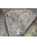 """Oak Leaf Anklet in solid Sterling Silver, 9""""-11"""" Adjustable - Fine jewel... - $114.00"""