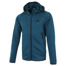 adidas FreeLift Climawarm Hoodie Sweatshirts Full Zip Long Sleeves Blue DX9152 - $75.99