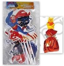 JUSTICE LEAGUE Party Favors Bag TOPPERS Supplies Treats Superman Batman ... - $7.87