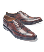 Hand mde wing tip oxford derby leather shose menq thumbtall