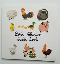 Baby Shower Guest Paperback Book NEW Farm Animals - $9.99