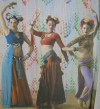 Simplicity 3832 Belly Dance 6-12 Costume Pattern Tribal Top Skirt Hip Sc... - $14.32
