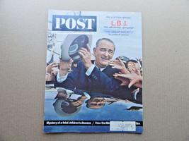 Saturday Evening Post Magazine October 31 1964 Complete LBJ Great Society - $9.99
