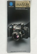 Vintage Minolta Maxxum 7000 35mm Camera Sales Brochure Booklet Manual - $9.89