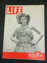 Vintage LIFE Magazine June 28, 1943 War Souvenir Sybil Myersburg Grass S... - $24.07