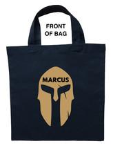 Spartan Trick or Treat Bag, Personalized Spartan Halloween Bag, Spartan Bag - $11.99+