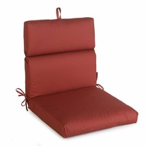 "Classic Red Outdoor Patio Chair Cushion Pad Hinged Seat Back 44"" L x 22"" W - $66.82"