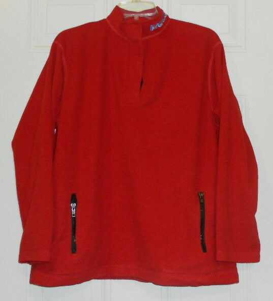 Primary image for Vtg-Ralph Lauren POLO Red Fleece ski Size Men's Large L Polo Jeans Co.
