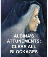ALBINA'S CLEAR ALL BLOCKAGES ATTUNEMENT ENERGIES ALBINA 99 yr Witch REIKI MASTER - $79.77