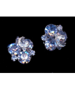 1950's Blue Weiss Clip Earrings - $27.95