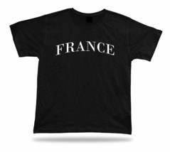 SUPPORT FRANCE SHIRT sport world cup football soccer pride college wear fan gear - $7.57