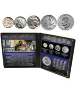 Seldom Seen Memorable US Coins w/ Handsome History Filled Display Folio - €14,38 EUR