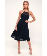 Stunner Lady My Kingdom Navy Lace Midi Dress - XS - $50.00